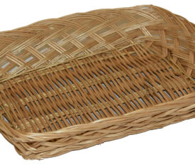 300mm x 230mm x 70mm Medium Wicker Basket for Easter and Christmas Gifts Qty 1