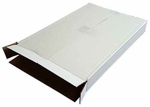 A2 A3 A4 Single Wall White Cardboard Corrugated Postal Boxes 5 Panel Wrap Mailer
