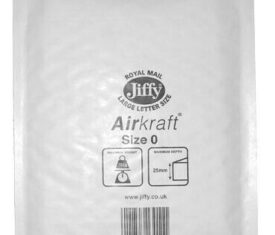 Box of 100 White Jiffy Airkraft Bubble Envelopes Size 0 140mm x 195mm 163681499388 275x235 - Box of 100 White Jiffy Airkraft Bubble Envelopes Size 0 140mm x 195mm