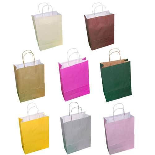 Paper Carrier Party Gift Bags Twisted Handles 180 X 80 220mm Many Colours