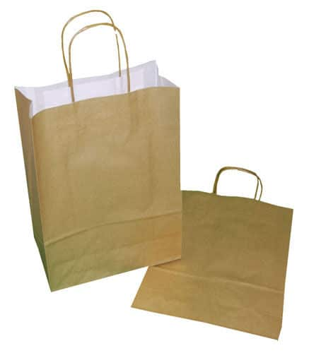 Variation Of Paper Carrier Party Gift Bags Twisted