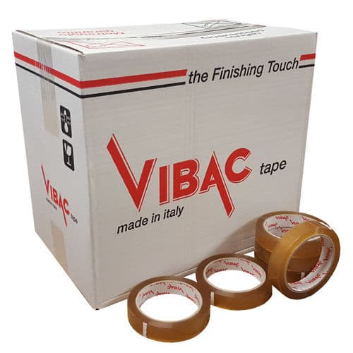 Vibac Solvent Clear Tape 66m x 48mm various quantities