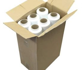 12 Roll 500mm 200m 23mu White BLOWN Opaque Pallet Stretch Wrap FREE Dispenser 141893670109 275x235 - 12 Roll 500mm 200m 23mu White BLOWN Opaque Pallet Stretch Wrap FREE Dispenser