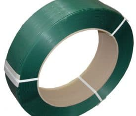 19mm x 0.8mm x 1200m Green Embossed Polyester Pallet Strapping Banding 1 Roll
