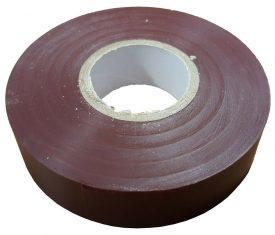 19mm x 33m Brown Flame Retardant Electrical PVC Tape Qty 1 Roll
