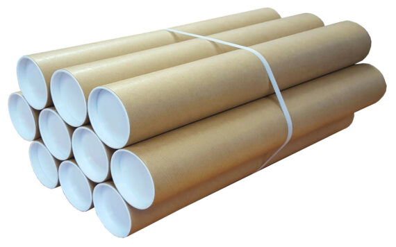 300mm x 76mm A4 Heavy Duty Cardboard Postal Tubes for Posters Artwork Qty 20
