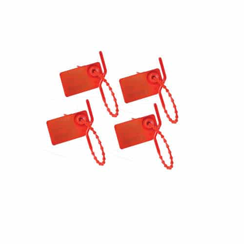 35mm x 20mm Red Numbered Pull Tight Security Tags Secure Seal Tracking 132021443929 - 35mm x 20mm Red Numbered Pull Tight Security Tags Secure Seal Tracking