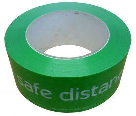 48mm x 66m Social Distancing 2m Distance Floor Marking Tape Green Qty 1 Roll