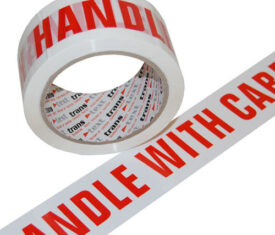 48mm x 66mm Adhesive Polypropylene Printed Text Warning Message Packing Tapes