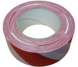 50mm x 50m Red White Striped Gaffer Tape Waterproof Duct Tape Qty 1 Roll