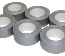 6 Rolls 50mm x 50m Silver Gaffer Gaffa Waterproof Duct Duck Cloth Adhesive Tape