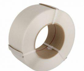 6mm x 0.55mm x 5000m White Polypropylene Machine Strapping Qty 1 Roll