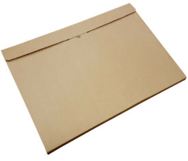 A2 Brown Cardboard Folders Wraps Boxes for Posters Artwork Coursework