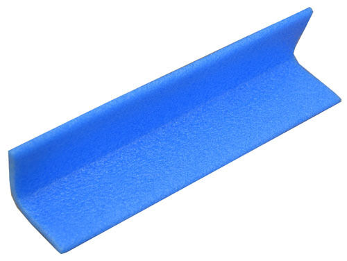 Blue L-Shape Foam Edge Corner Protection 50mm to 75mm Boxes of 2000mm Lengths