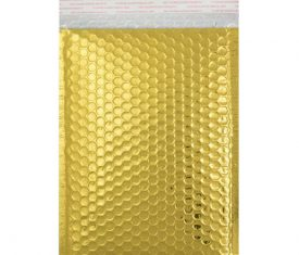 Box Quantity Various Sizes GOLD Gloss Metallic Bubble Bag Mailers Envelopes