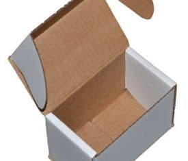 Small Parcel White Die Cut Cardboard Postal Mailing Boxes 140mm x 85mm x 100mm
